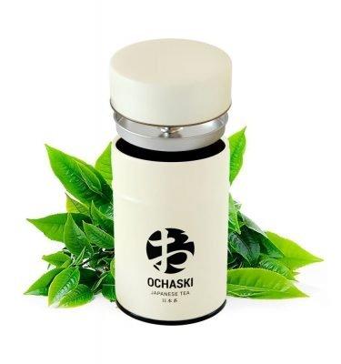 Ochaski can tin green tea free tea bags made in Japan