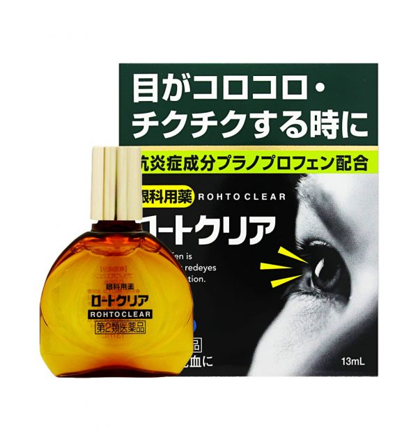 ROHTO Clear Red Eyes and Inflammation Eye Drops Made in Japan