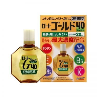 ROHTO Gold 40 Mild Type Eye Drops Made in Japan