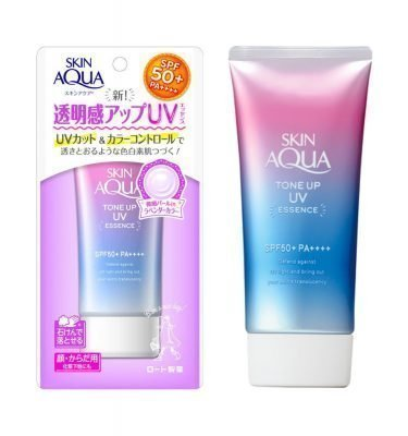 ROHTO Skin Aqua New Sunscreen Tone Up UV Essence SPF50 Made in Japan