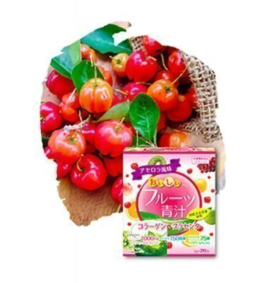 YUWA Delicious Acerola Aojiru Made in Japan