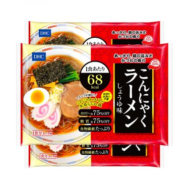 DHC Japanese Diet Konjac Ramen Noodles 65kcal Shoyu Soy Sauce Made in Japan