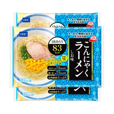DHC Japanese Diet Konjac Ramen Noodles 83kcal Shio Salt Made in Japan