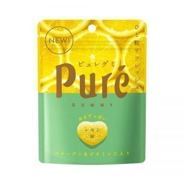 KANRO Pure Gummy Lemon Flavour with Collagen and Vitamin C Made in Japan