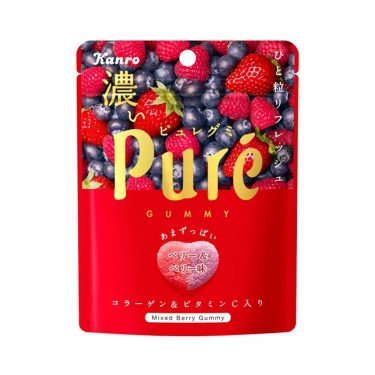KANRO Pure Gummy Mixed Berry with Collagen and Vitamin C Made in Japan