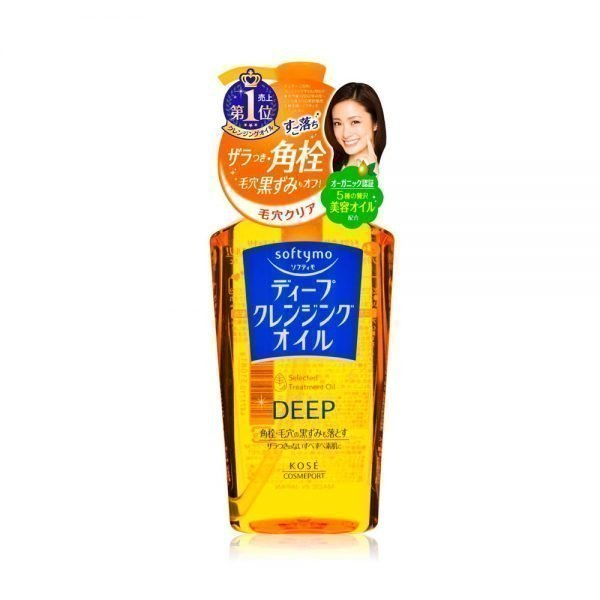 KOSE SoftyMo Deep Cleansing Facial Wash Oil Treatment Makeup Removal Made in Japan