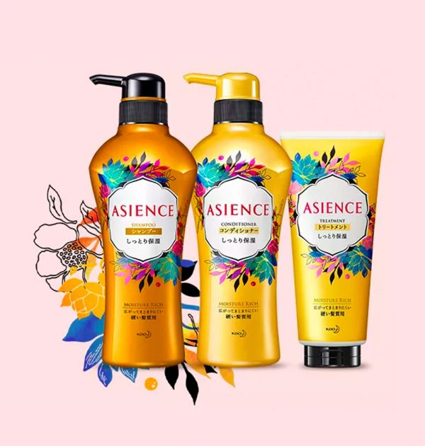 KAO Asience Moisture Rich Moist Type Shampoo Made in Japan