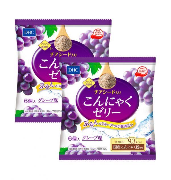 DHC Chia Seed Konjac Jelly Grape Taste Made in Japan