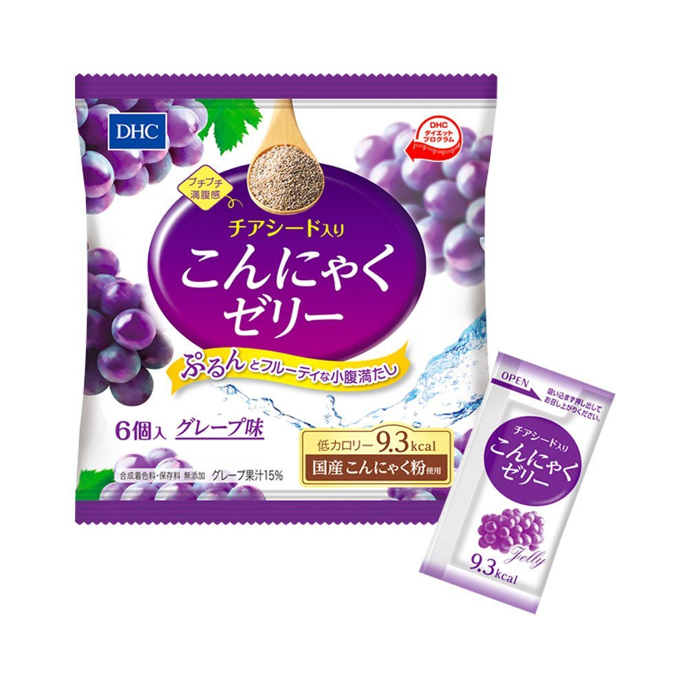 DHC Chia Seed Konjac Jelly Grape Taste Made in Japan