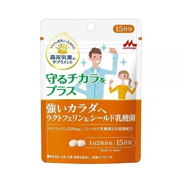 Morinaga Strong Body Lactoferrin & Shield Lactic Acid Bacteria Capsules Made in Japan
