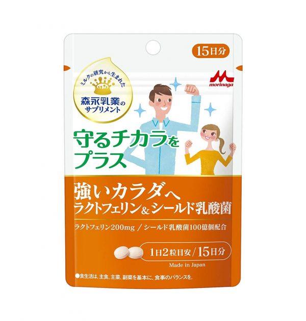 Morinaga Strong Body Lactoferrin & Shield Lactic Acid Bacteria Capsules Made in Japan