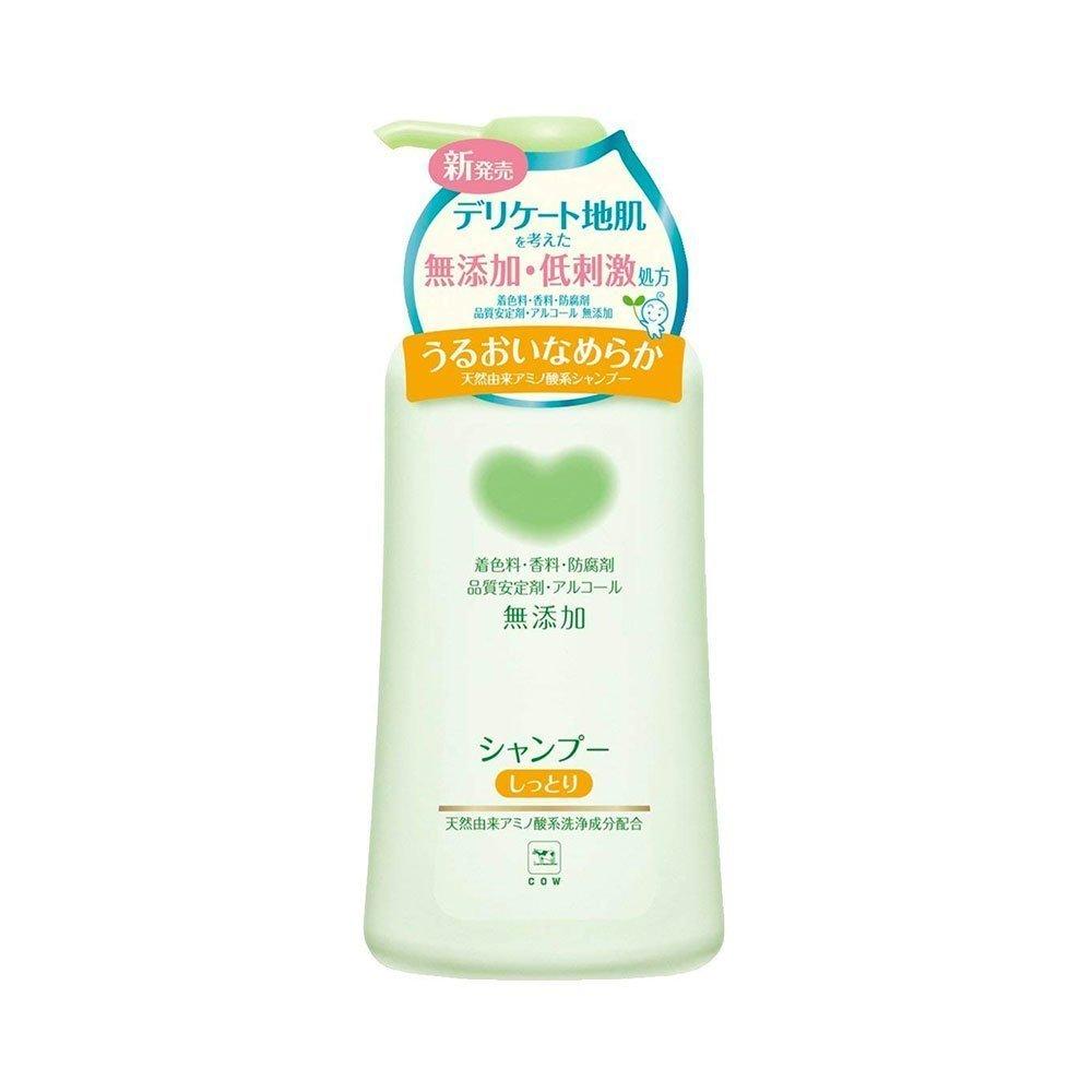 Cow Brand Mutenka Non Additive Moist Shampoo Pump 500ml Made In
