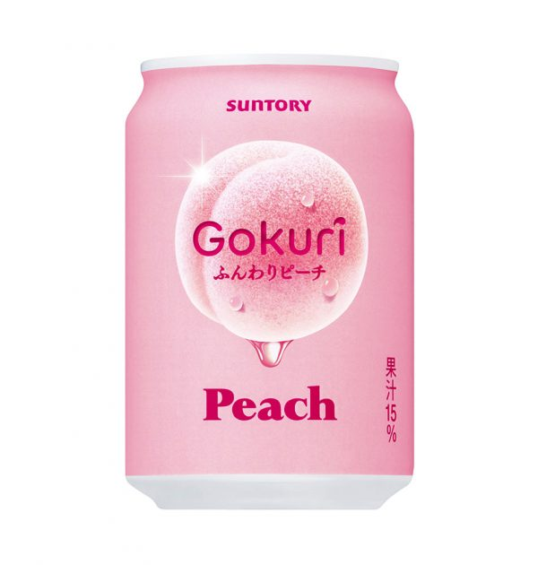SUNTORY Gokuri Real Peach Pulps Nectar Made in Japan