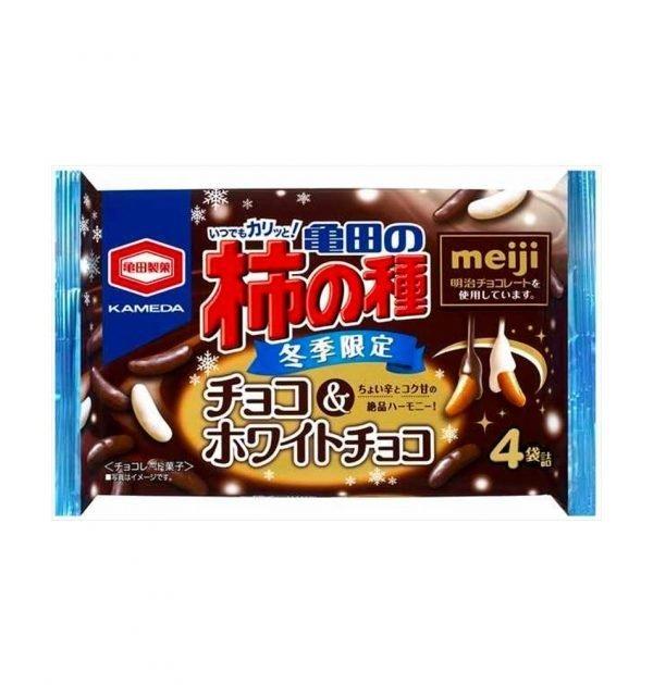 KAMEDA Crackers & Peanuts White & Dark Chocolate Made in Japan