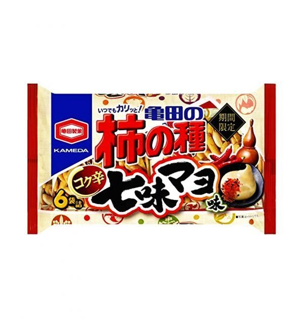 KAMEDA Kaki No Tane Rice Crackers & Peanuts Spicy Shichimi Mayo Made in Japan
