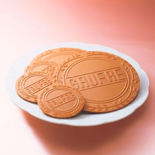 FUGETSUDO Gaufre 25S Vanilla, Strawberry Chocolate Cream Sandwich Made in Japan
