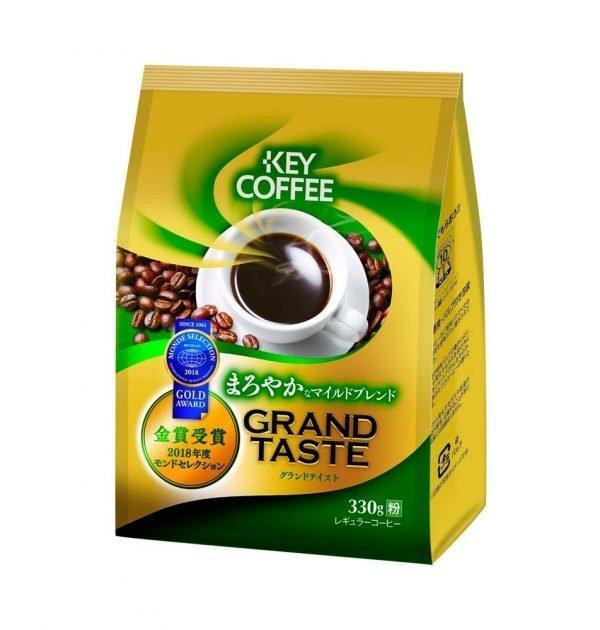 KEY COFFEE Grand Taste Kilimanjaro Blend Ground Coffee Gold Award Made in Japan