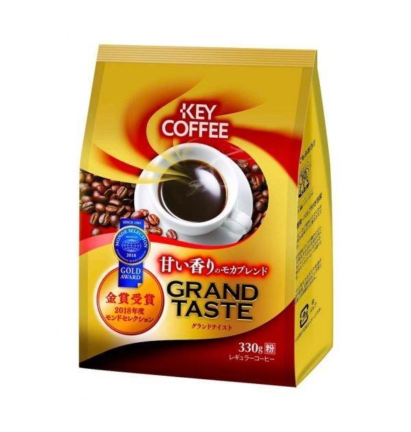 KEY COFFEE Grand Taste Mocha Blend Ground Coffee Gold Award Made in Japan