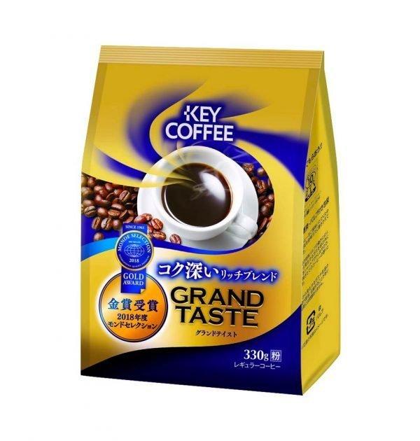 KEY COFFEE Grand Taste Rich Blend Ground Coffee Gold Award Made in Japan