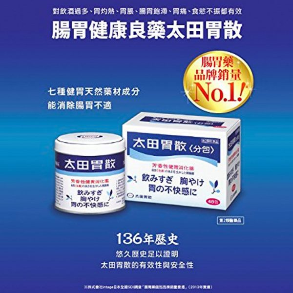 Ohtas Isan Antacid Powder Can Made in Japan