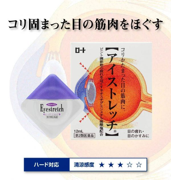 ROHTO Eye Stretch Relax Eye Drops Made in Japan