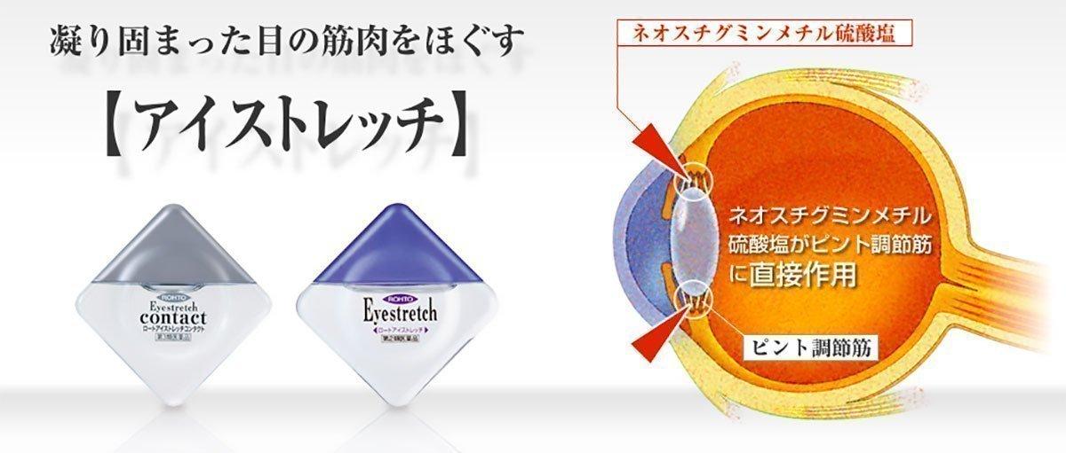 ROHTO Eye Stretch Relax Eye Drops 12ml - Made in Japan