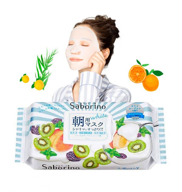 SABORINO Wake Up Sheets Fresh Fruits White Type 28 Sheets Limited Edition Made in Japan