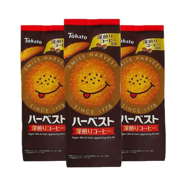 TOHATO Harvest Super Thin Appetising Deep-roasted Coffee Biscuits Made in Japan