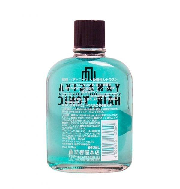 YANAGIYA Hair Tonic Super Cool Formula Subtle Citrus Fragrance Made in Japan
