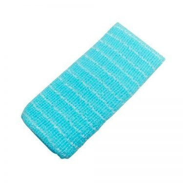 AWAYUKI Exfoliating Nylon Wash Cloth Body Towel Normal Blue Type Made in Japan