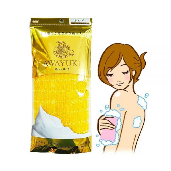 AWAYUKI Exfoliating Nylon Wash Cloth Body Towel Normal Type Made in Japan