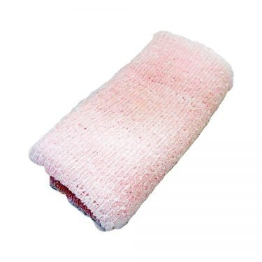 AWAYUKI Exfoliating Nylon Wash Cloth Body Towel Soft Pink Type Made in Japan