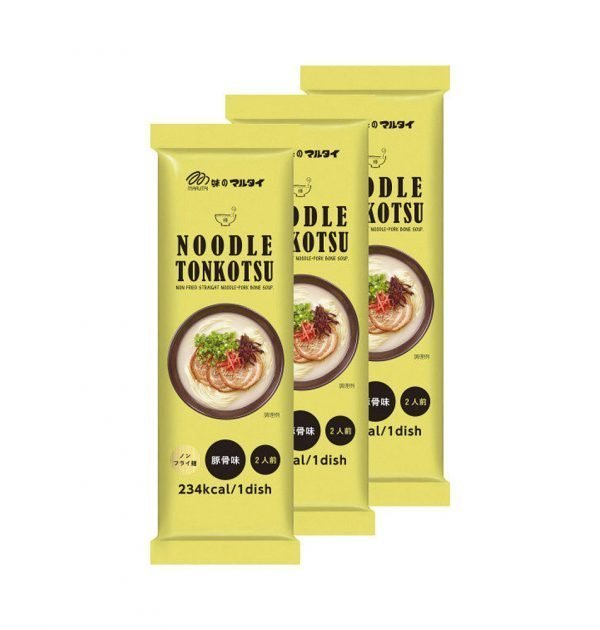MARUTAI Non-fried Straight Noodle Tonkotsu Pork Bone Soup Made in Japan
