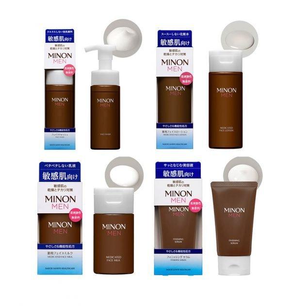 MINON MEN Amino Medicated Face Lotion Milk Serum Mediacted Made in Japan