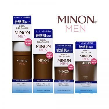 MINON MEN Amino Wash, Lotion, Milk and Serum Set Made in Japan