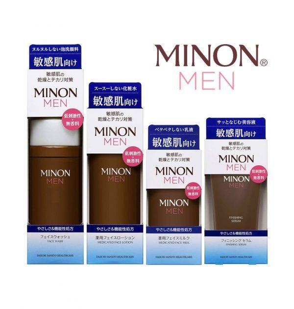 MINON MEN Amino Wash, Lotion, Milk and Serum Set Made in Japan