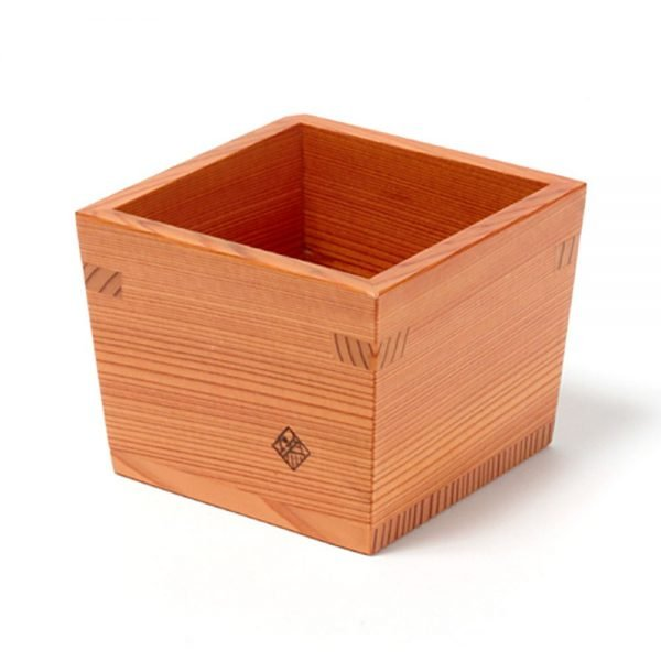 Nikko Cedar Masu Sake Cup & Tokkuri Set Handmade by Craftsman World Heritage Site Award Winner