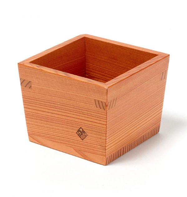 Nikko Cedar Masu Sake Cup & Tokkuri Set Handmade by Craftsman World Heritage Site Award Winner