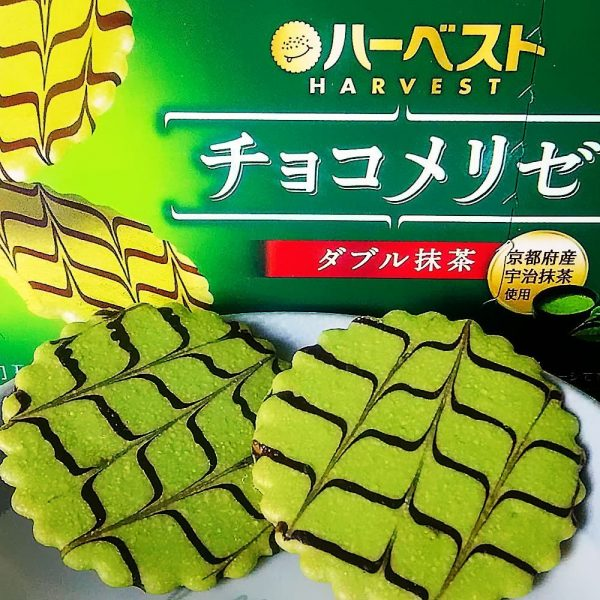 TOHATO Uji Matcha Green Tea Biscuit Topped with Chocolate Sauce Made in Japan