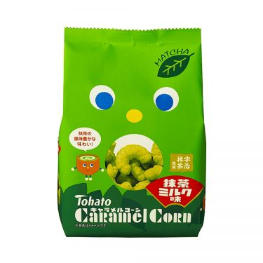 TOHATO Uji Matcha Green Tea Caramel Corns Made in Japan