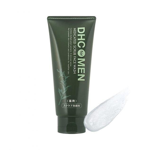 DHC MEN Medicated Scrub Face Wash Made in Japan