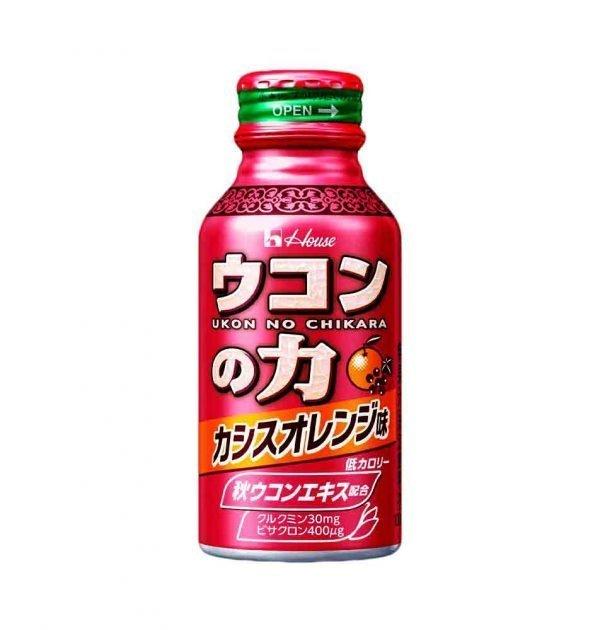 HOUSE Ukon No Chikara Turmeric Hangover Cure Drink Orange Flavour Made in Japan
