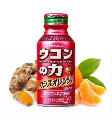 HOUSE Ukon No Chikara Turmeric Hangover Cure Drink Orange Flavour Made in Japan