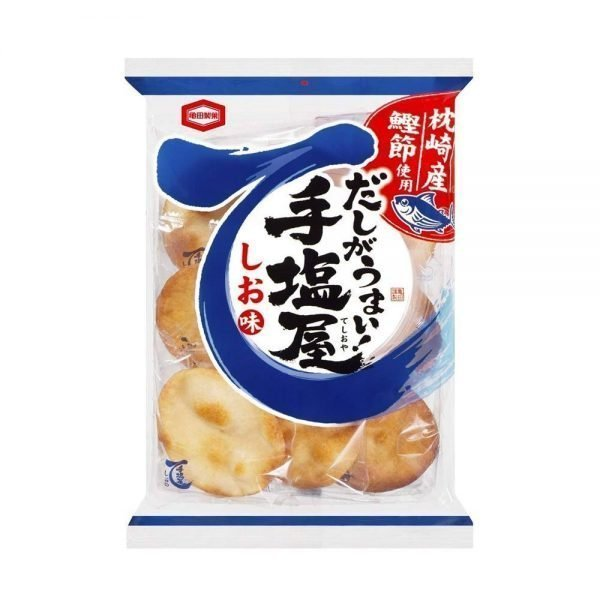 KAMEDA Teshioya Dashi Salty Taste Rice Crackers Made in Japan
