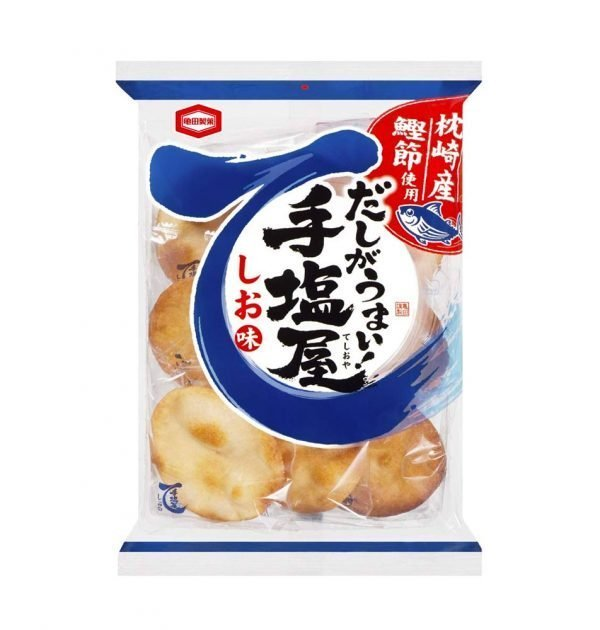 KAMEDA Teshioya Dashi Salty Taste Rice Crackers Made in Japan