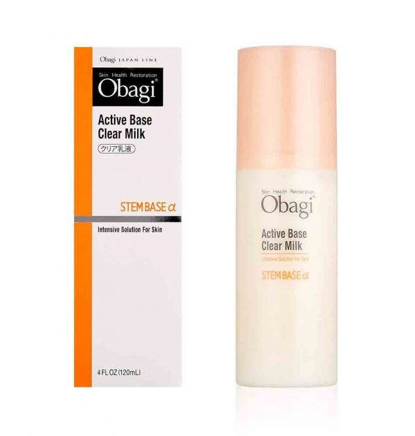 OBAGI Active Base Clear Milk Intensive Solution for Skin Steam Base Alfa Made in Japan