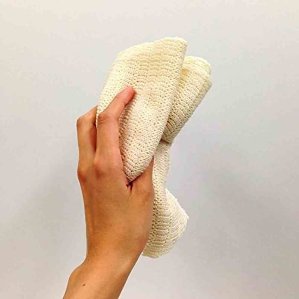 OHE & CO Natural Floss Lathering Wash Cloth Body Towel Silk Cotton Made in Japan