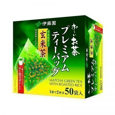 ITOEN Matcha Green Tea and Roasted Rice Oi Ocha 50 Triangle Teabags Made in Japan