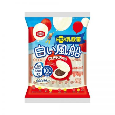 KAMEDA Confectionery White Balloon Milk Chocolate Cream Rice Crackers Made in Japan