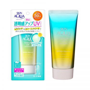ROHTO Skin Aqua Mint Green Sunscreen Tone Up UV Essence Made in Japan